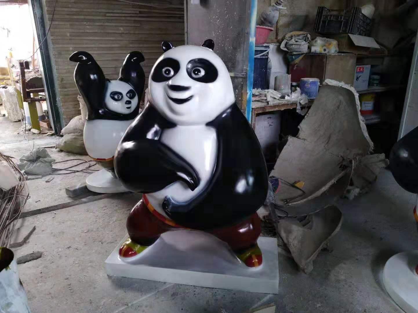 玻璃钢卡通熊猫2