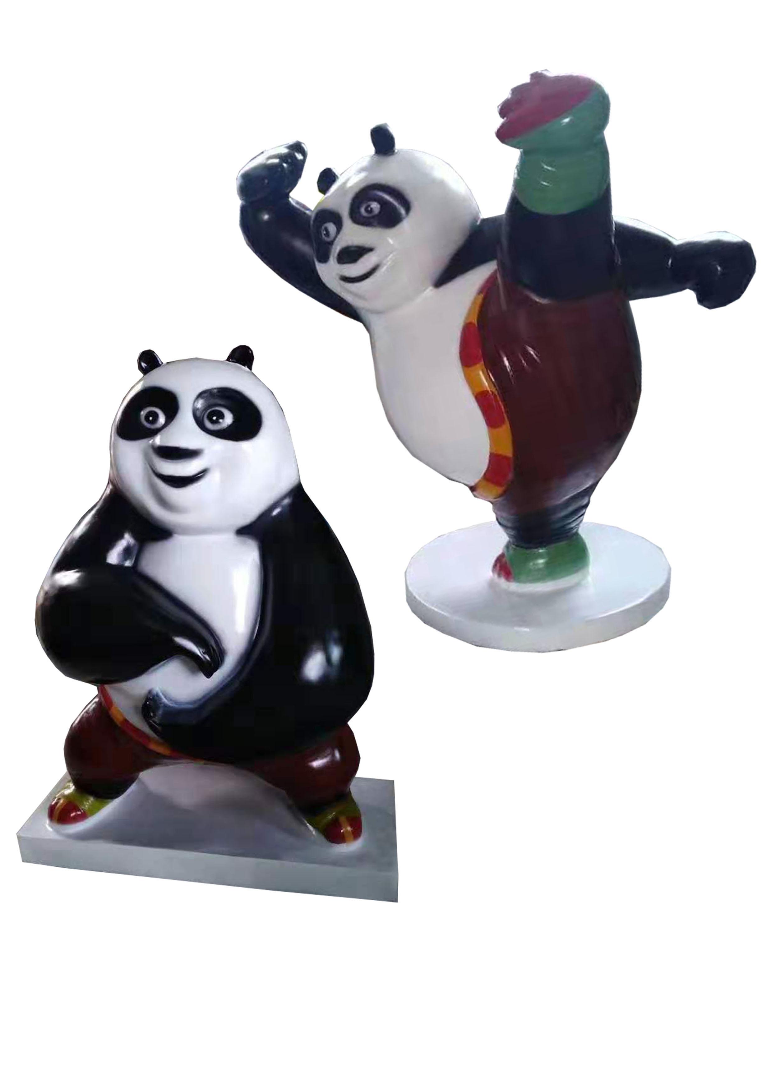 玻璃钢卡通熊猫5